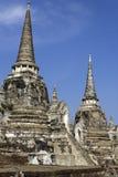 Ayutthaya fördärvar - UNESCOvärldsarvet Arkivbild