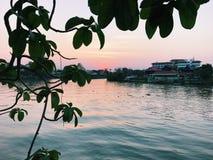 Ayutthaya flodsikt Royaltyfri Bild