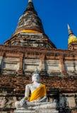 Ayutthaya forntida Buddhastaty arkivbilder