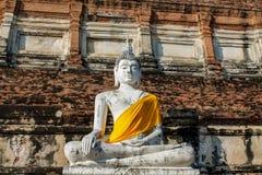 Ayutthaya forntida Buddhastaty royaltyfria bilder