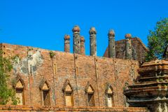 Ayutthaya Historical Park ancient Wat ruins Stock Photography
