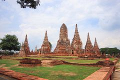 Ayutthaya historical park. The Ayutthaya Historical Park covers the ruins of the old city of Ayutthaya, Thailand. The city of Ayutthaya was founded by King Stock Image