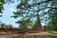 Ayutthaya Historical Park Thailand. A UNESCO World Heritage Site, Ayutthaya's historic temples are scattered throughout this once magnificent city and along the Stock Images