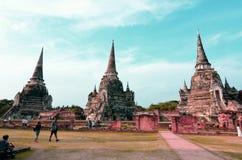 Ayutthaya historical park, WAT PHRA SI SANPHET. Ayutthaya WAT PHRA SI SANPHET, chedis royalty free stock photos