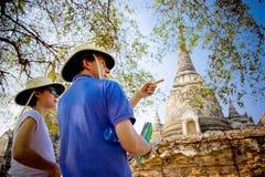 Ayutthaya historischer Park Stockfotografie