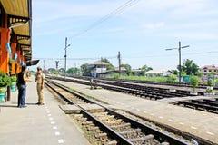 Ayutthaya järnvägsstation, Hatyai, Thailand Royaltyfri Bild