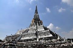 ayutthaya khao phu泰国皮带wat 免版税库存图片