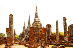 ayutthaya kości Obrazy Royalty Free