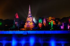 Ayutthaya Light & Sound Presentation 2012 Royalty Free Stock Images