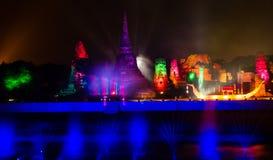 Ayutthaya Ligth & ядровое представление 2012 стоковое изображение