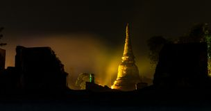 Ayutthaya Ligth & Correcte Presentatie 2012 Royalty-vrije Stock Foto's