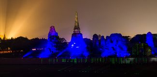 Ayutthaya Ligth & Sound Presentation 2012 Stock Photography