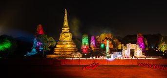 Ayutthaya Ligth & Sound Presentation 2012 Stock Photos