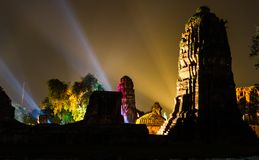 Ayutthaya Ligth & Sound Presentation 2012 Royalty Free Stock Photography