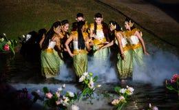 Ayutthaya Ligth y presentación sana 2012 Fotografía de archivo