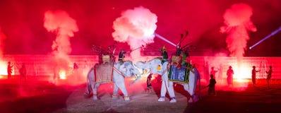 Ayutthaya Ligth y presentación sana 2012 Fotografía de archivo libre de regalías