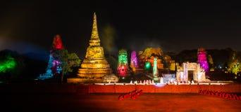 Ayutthaya Ligth y presentación sana 2012 Fotos de archivo