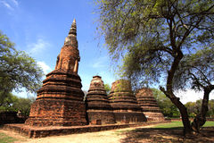 ayutthaya mahatad Thailand wat Zdjęcia Royalty Free