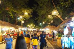 Ayutthaya night market stock photos