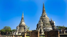Ayutthaya och templet grundade c 1350 arkivfoton