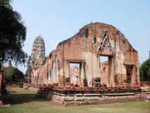 Ayutthaya old temple. Ancient temple at Ayutthaya city in Thailand Stock Image