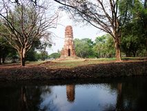 Ayutthaya old temple Royalty Free Stock Image