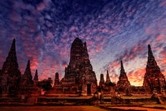 Ayutthaya. Old Temple wat Chaiwatthanaram of Ayutthaya Province( Ayutthaya Historical Park )Asia Thailand Royalty Free Stock Images