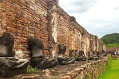 Ayutthaya oude stad Stock Fotografie