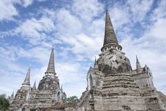 Ayutthaya, oude tempel in Thailand Stock Foto