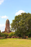 Ayutthaya pagoda in thailand Stock Photos