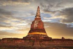 ayutthaya pagodowy świątynny Thailand Fotografia Royalty Free