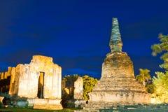 ayutthaya pagodowy ruiny zmierzch Zdjęcia Stock