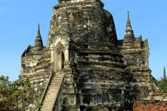 ayutthaya phra sanphet si泰国wat 免版税库存照片