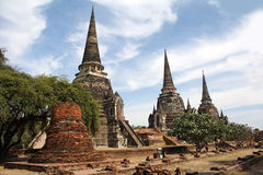 ayutthaya phra sanphet si wat Zdjęcia Stock