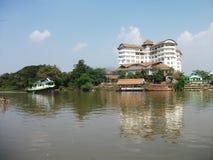 Ayutthaya river Caophraya. River view Chaophraya in Ayutthaya Thailand Royalty Free Stock Images