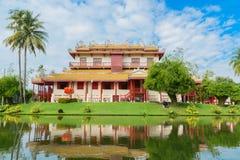 Ayutthaya Royal Palace i Thailand royaltyfri foto