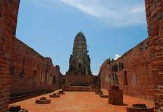 Ayutthaya Ruinen, buddhistischer Tempel Stockfoto