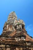 Ayutthaya Ruinen, buddhistischer Tempel Stockbild