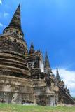 Ayutthaya Ruinen, buddhistischer Tempel Stockbilder