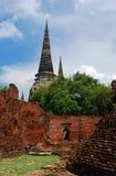 Ayutthaya Ruinen, buddhistischer Tempel Stockfotos
