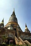 Ayutthaya, ruins of ancient thailand. Temples and pagodas in Ayutthaia, ancient capital of Thai kingdoms, near Bagkok Royalty Free Stock Photography