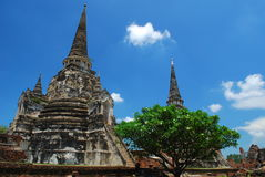 Ayutthaya ruins, buddhist temple Stock Images