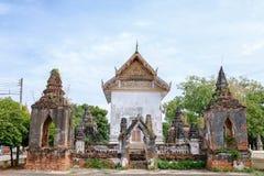 Ayutthaya sanktuarium z dwa pagodą zdjęcie stock