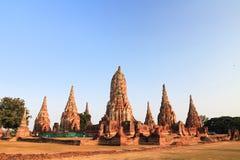 Ayutthaya solnedgång Fotografering för Bildbyråer