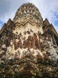 Ayutthaya som är forntida fördärvar, gammal huvudstad, Bangkok, Thailand fotografering för bildbyråer
