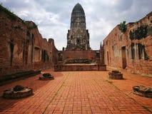 Ayutthaya som är forntida fördärvar, gammal huvudstad, Bangkok, Thailand royaltyfri bild