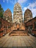 Ayutthaya som är forntida fördärvar, gammal huvudstad, Bangkok, Thailand royaltyfria bilder