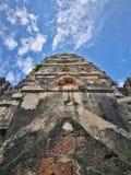 Ayutthaya som är forntida fördärvar, gammal huvudstad, Bangkok, Thailand arkivfoto