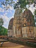 Ayutthaya som är forntida fördärvar, gammal huvudstad, Bangkok, Thailand arkivfoton
