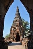 ayutthaya stary pagodowy Thailand Zdjęcia Royalty Free